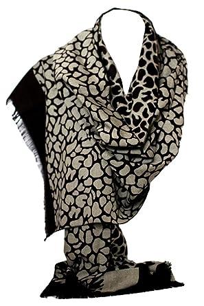 Leopard Print Manteau chaud et doux Cachemire Style Shawl Echarpe Wrap  Stole (gris noir)  Amazon.fr  Vêtements et accessoires 5b7a48af0cb