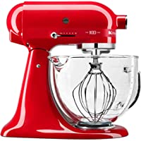 KitchenAid KSM180QHGSD Queen of Hearts Stand Mixer, 5 Qt, Passion Red