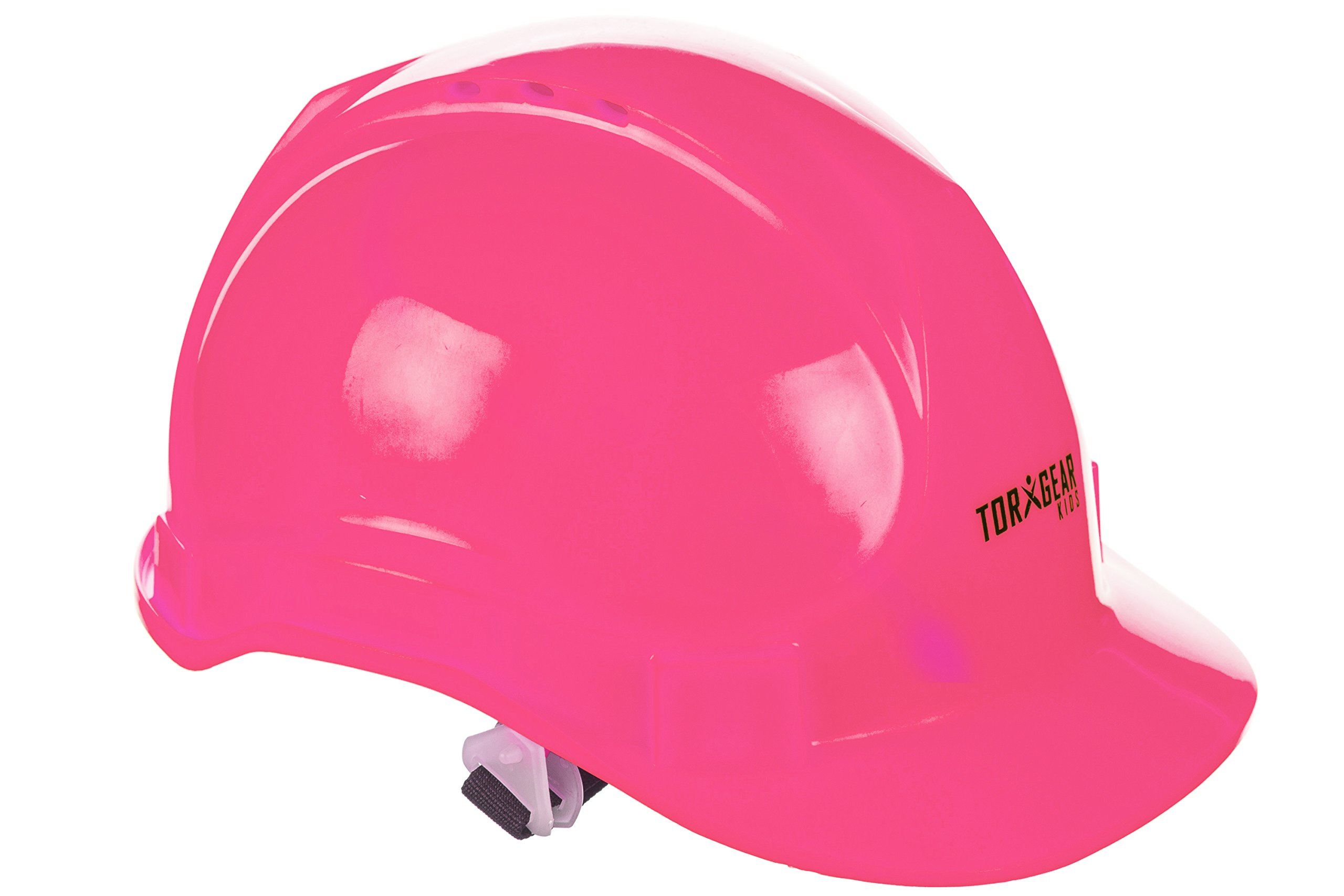 Child's Pink Hard Hat – Ages 2 to 6 – Kids Safety Construction Helmet Costume