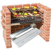 Einbaugrill schwarz XL Installation Grill ✔ eckig ✔ stehend grillen ✔ Grillen mit Holzkohle
