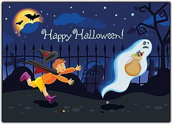 Halloween Kindergeburtstag.Halloween Kinder Einladungskarten Einladung Erwachsene Kindergeburtstag Halloweenparty 12 Stuck Gespenster Party Gruselig