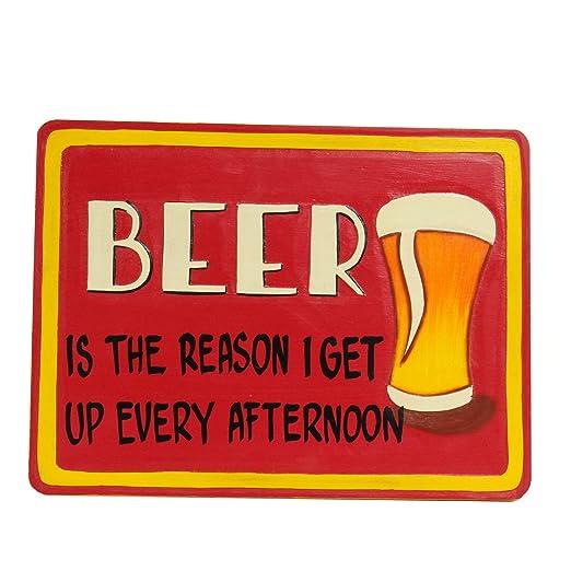 Cerveza Cartel de madera Brindis pared Cartel Party Bar ...