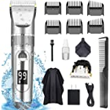 POLENTAT Hair Clippers for Men Professional Hair Cutting Kit Electric Beard Shaver IPX7 Waterproof USB Rechargeable with…