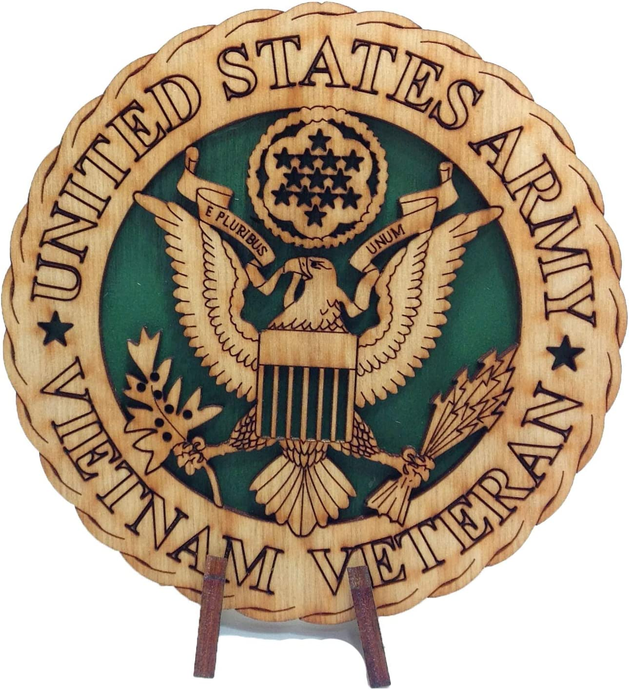 Armed Forces Air Force Military Decorative Laser Three Dimensional Wooden Desk Plaque