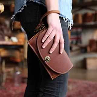 product image for The Betty Jean Women's Fine Leather Envelope Clutch Pocketbook Wallet