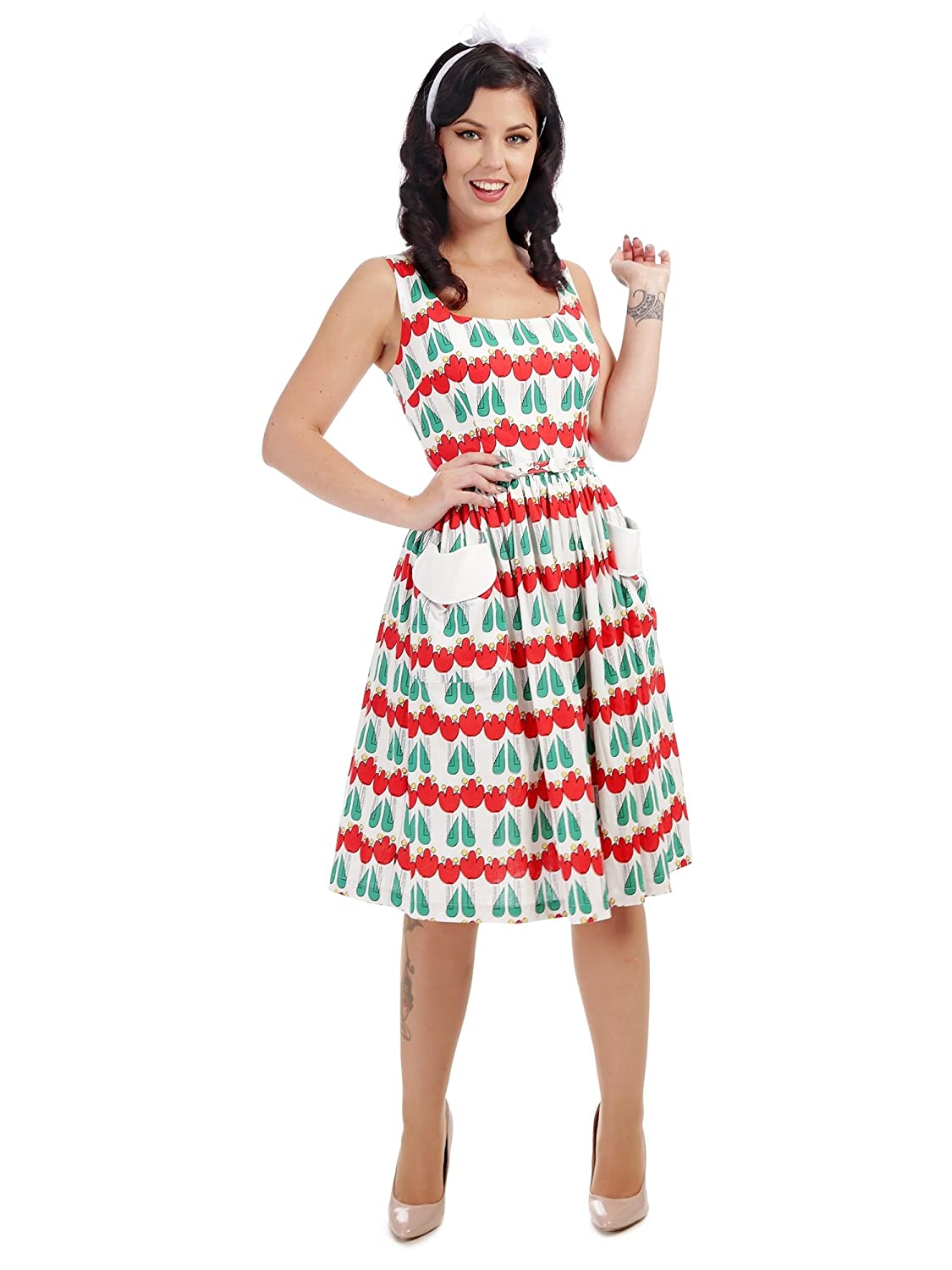 4f8d5d8ea2 Collectif Vintage Women s Nora Abstract Swing Dress  Amazon.co.uk  Clothing