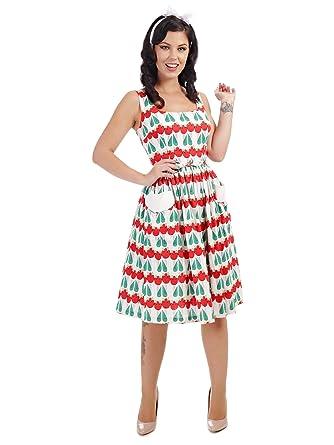 b42ae22181 Collectif Vintage Women s Nora Abstract Swing Dress  Amazon.co.uk ...