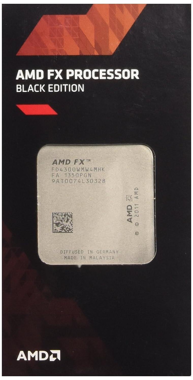 Amazon Com Amd Fx 4 Core Black Edition Fx 4300 Fd4300wmhkbox