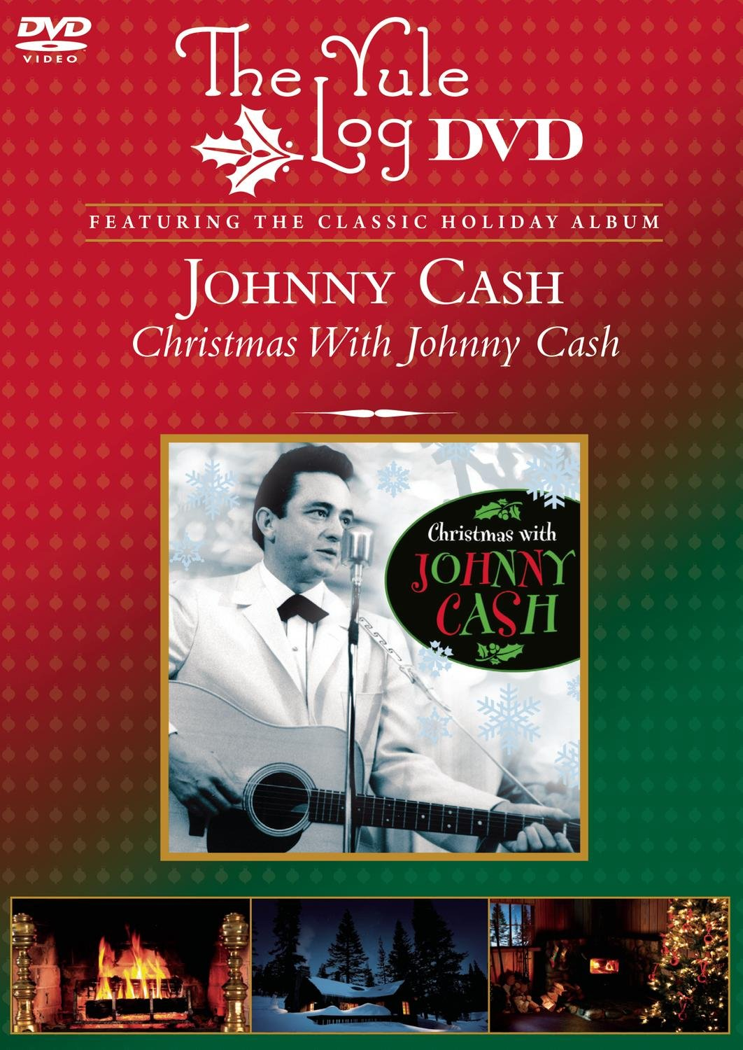 Amazon.com: Christmas With Johnny Cash (The Yule Log DVD): Johnny ...