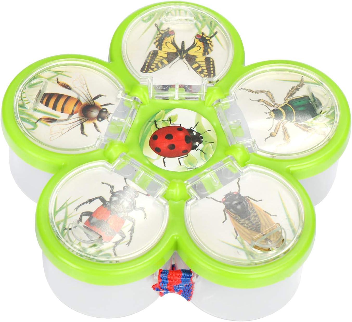 Juego para la Caza de Insectos con Lupa y alicates Juguetes de Aprendizaje Biolog/ía com-four/® 2X Juego de investigaci/ón para ni/ños 02 Piezas - Set2 Set Descubridor para ni/ños