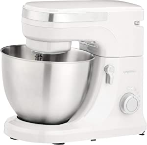 AmazonBasics Multi-Speed Stand Mixer with Attachments, White