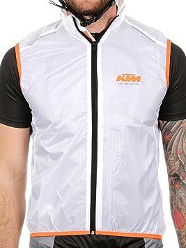 Chaqueta Mtb Sin Mangas Ktm Factory Line Windbreaker Micro Blanco (Xl , Blanco): Amazon.es: Deportes y aire libre