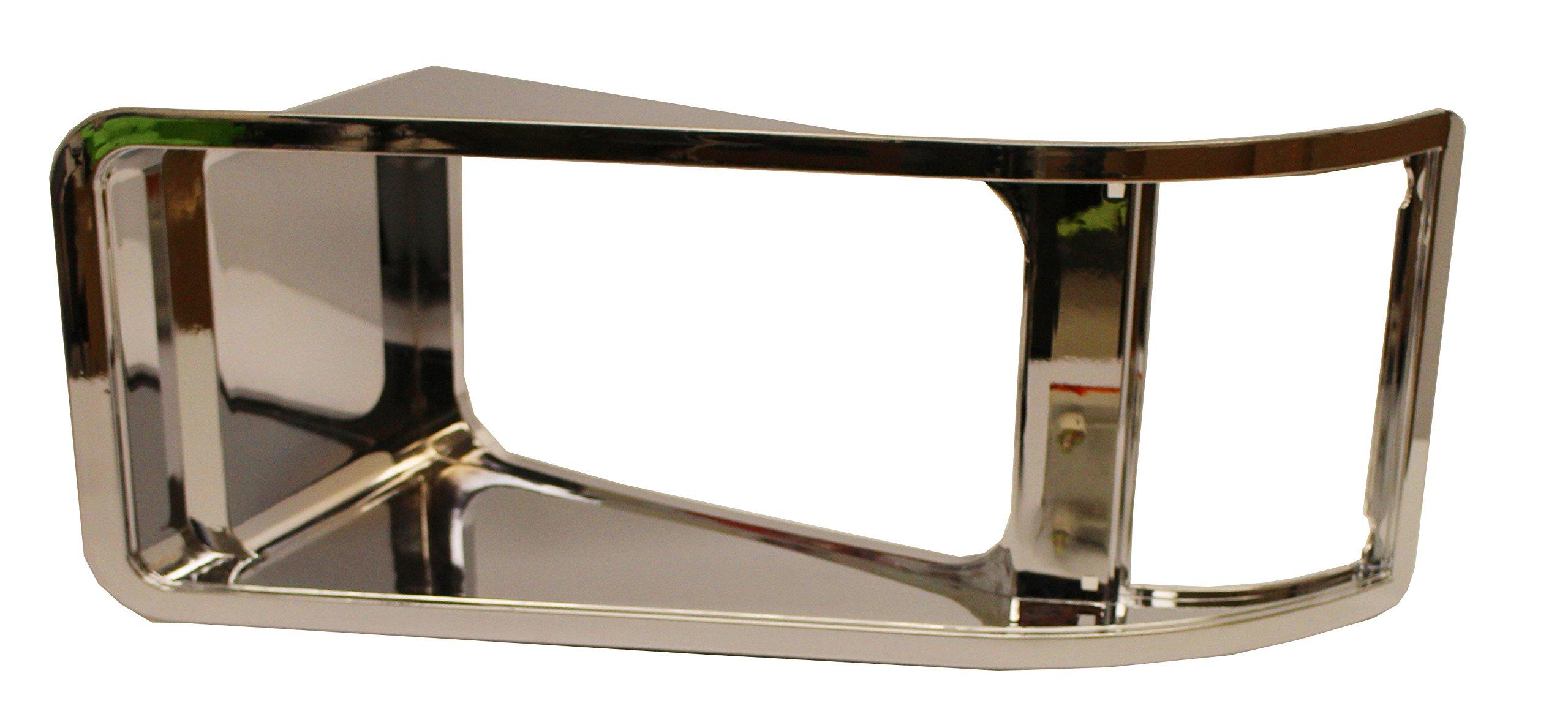 Inset Bezel Chrome - Driver Side (Fit: Mack CH613 SBA)