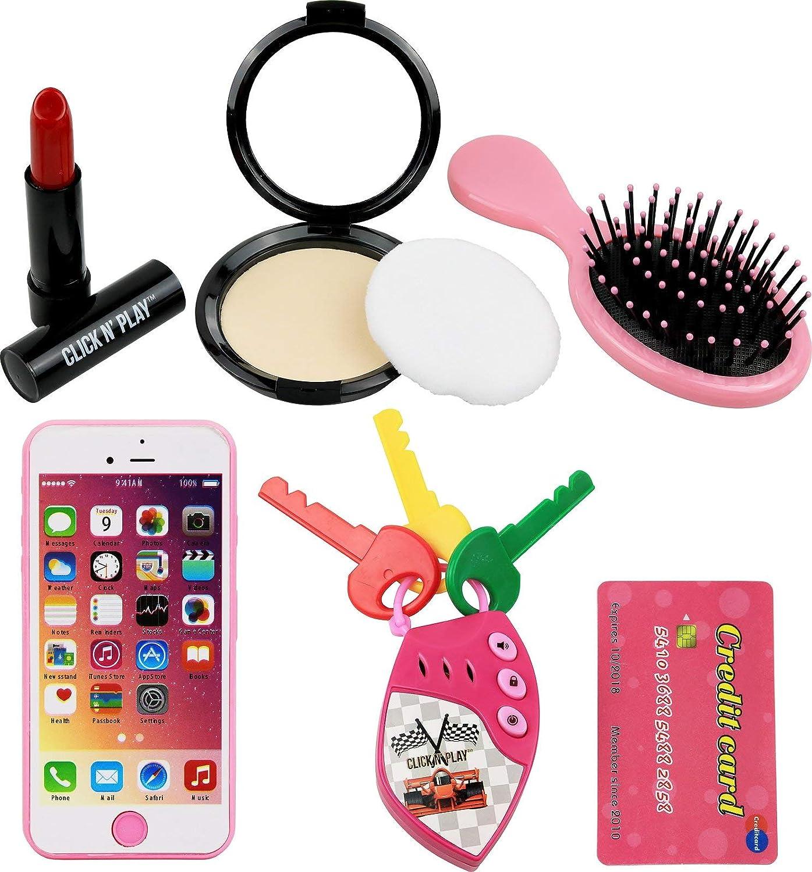 Amazon.com: Click N Play - Monedero para niñas (8 piezas ...