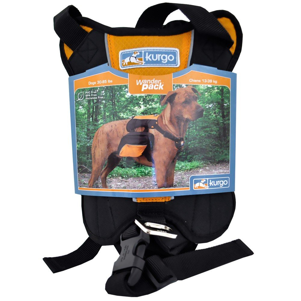 Kurgo Dog Backpack for Hiking, Walking or Camping Barn Red 01585