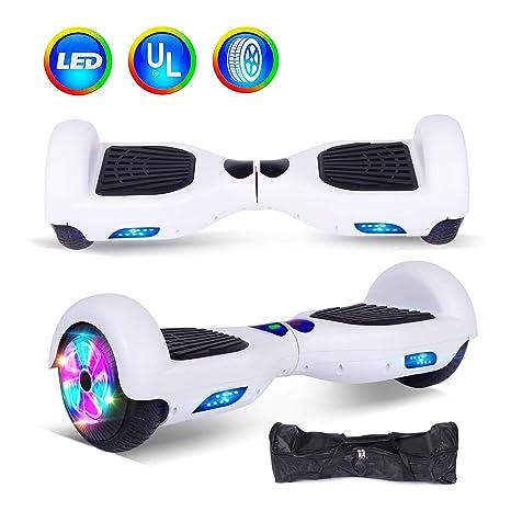"""jolege Hoverboard Scooter eléctrico con auto balanceo inteligente de dos ruedas de 6.5""""y luz"""