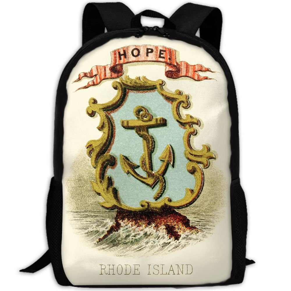 ZQBAAD Rhode Island State Coat Of Arms Luxury Print Men And Women's Travel Knapsack