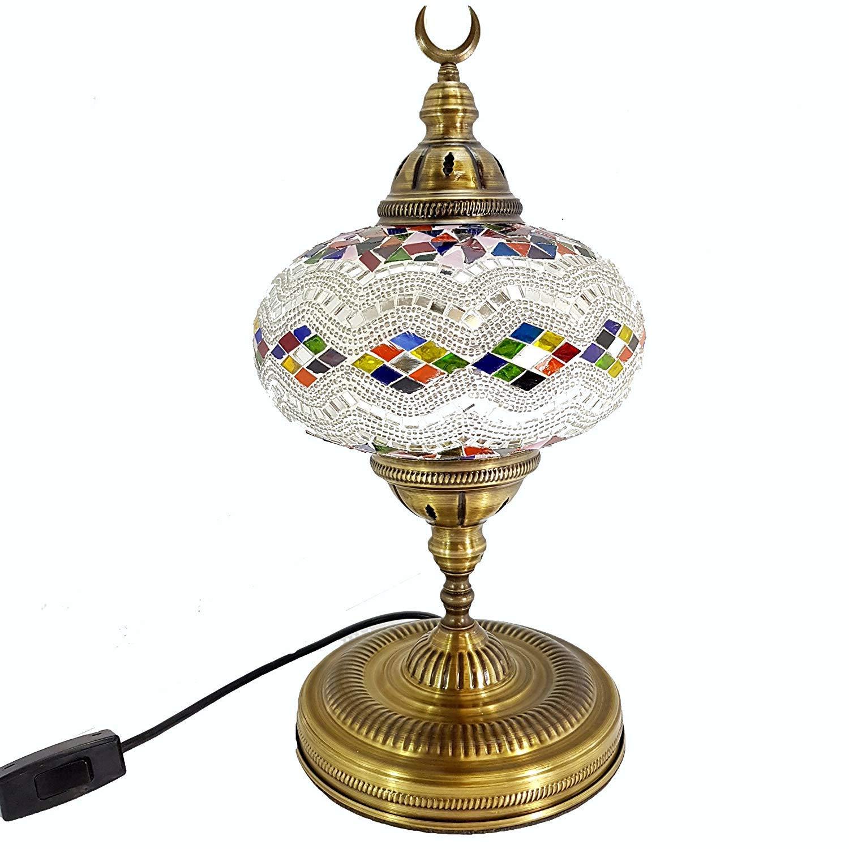 Amazon.com: Lámpara de mesa hecha a mano extragrande estilo ...