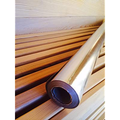 Type C Single Sided Foil Vapor Barrier + 1 Roll of Foil Tape! Covers up to a 6' x 8' Sauna : Garden & Outdoor