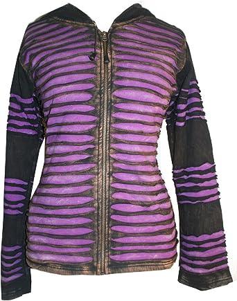 RJ 311 Bohemian Fleece Distressed Razor Cut Hoodie Jacket