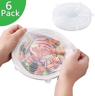 Tapas Ajustables de Silicona Cocina XL-24cm para Alimentos, 7 ...