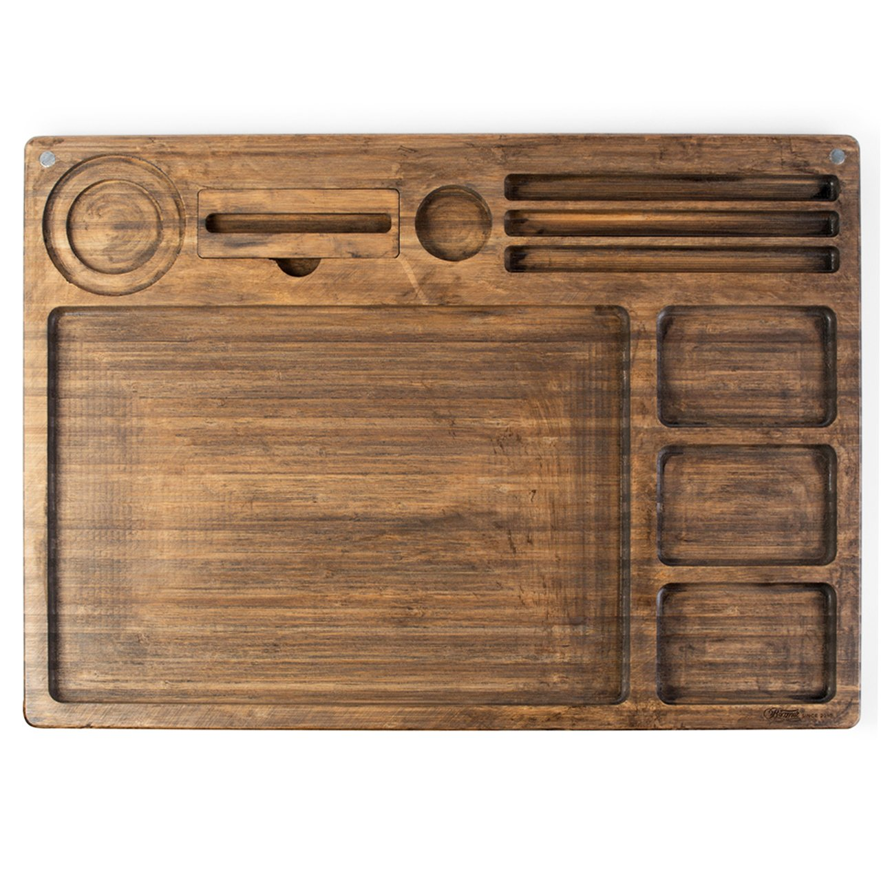 Beamer Goliath All In One Natural Bamboo Rolling Tray - Original Finish - 21 X 15 inch by Beamer