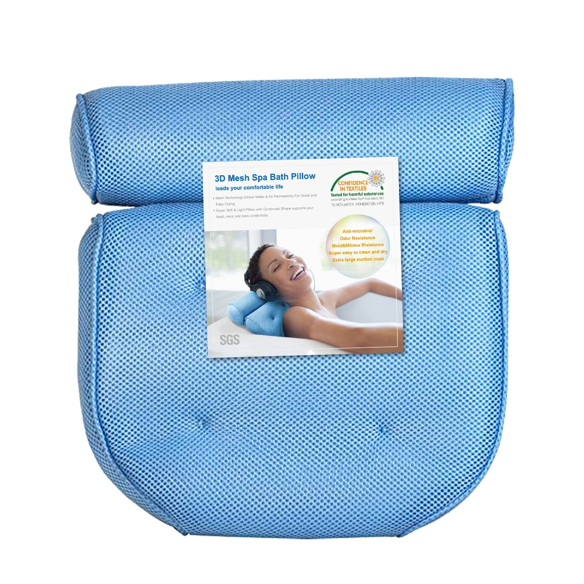 Amazon.com: Non-Slip Bath Pillow for Tub, Extra Thick Soft and Large ...