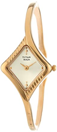 0d9e94cfcc6 Image Unavailable. Image not available for. Colour  Titan Women s 2141YM02 Raga  Inspired Gold Tone Watch