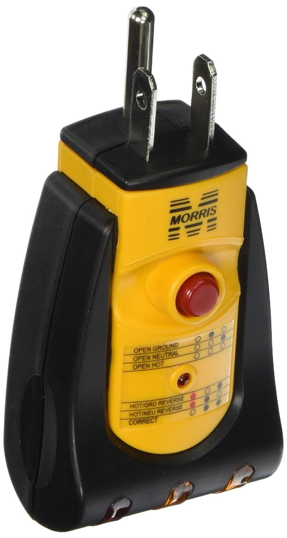 Morris 59090 Gfci Receptacle Tester Industrial Scientific Gardner Bender Gfi3501 Ground Fault And Circuit