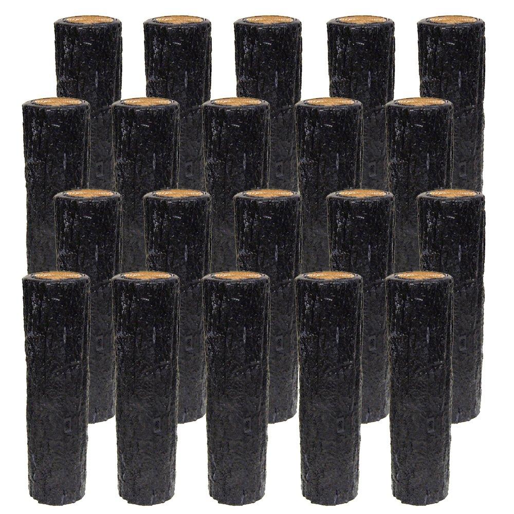 サンポリ 樹脂製擬木はなえ80Φ 一本杭 H300 (20本セット) B00V8IIQC2   20本セット
