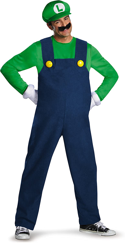 Disfraz Adulto Luigi Deluxe Talla L: Amazon.es: Juguetes y juegos
