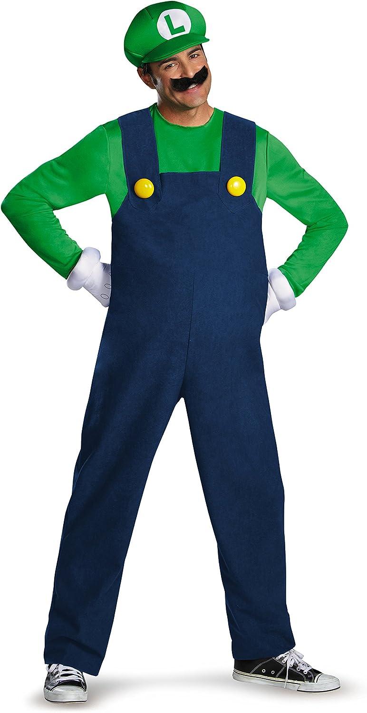 Amazon Com Disguise Super Mario Luigi Deluxe Mens Adult Costume