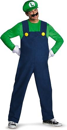 Nintendo Super Mario Bros- Deluxe Luigi Disfraz, Color, Extra ...