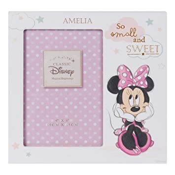 Personalised Engraved Disney Baby Photo Frame Minnie Mouse Gift