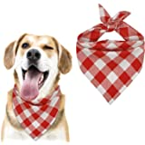 MJIYA Dog Bandana, Washable Reversible Kerchief Scarf, Bib with Adjustable Accessories for Small to Large Dog Puppy Cat, Gift