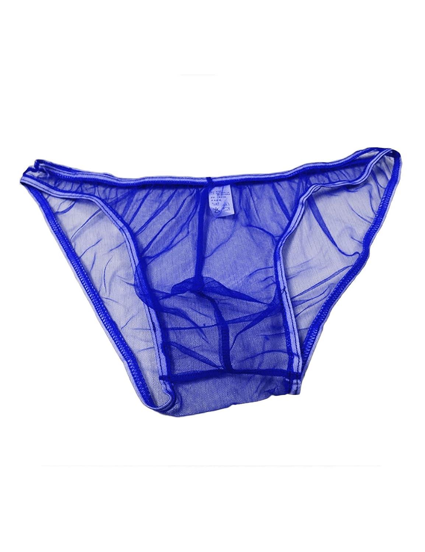 newrong Mens Mesh Bulge Bikini Briefs