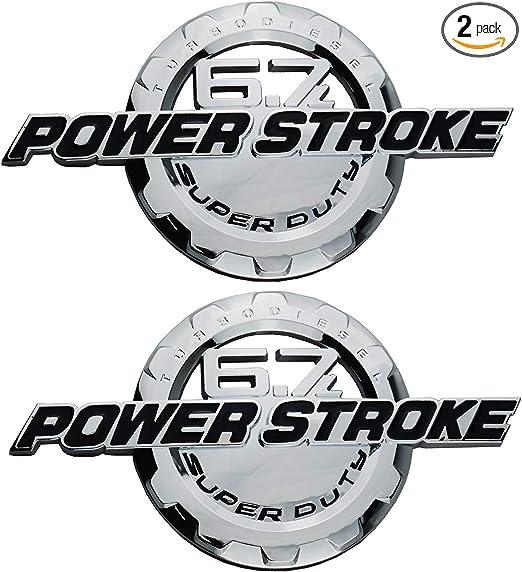 PAIR SET 6.7L POWER STROKE SUPER DUTY SIDE DOOR BADGE EMBLEMS FITS FOR F250 F350 Matt Black