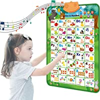 Toworld Electronic Interactive Alphabet Wall Chart, Talking ABC & 123s & Music Poster, Educational Toys Gifts for…