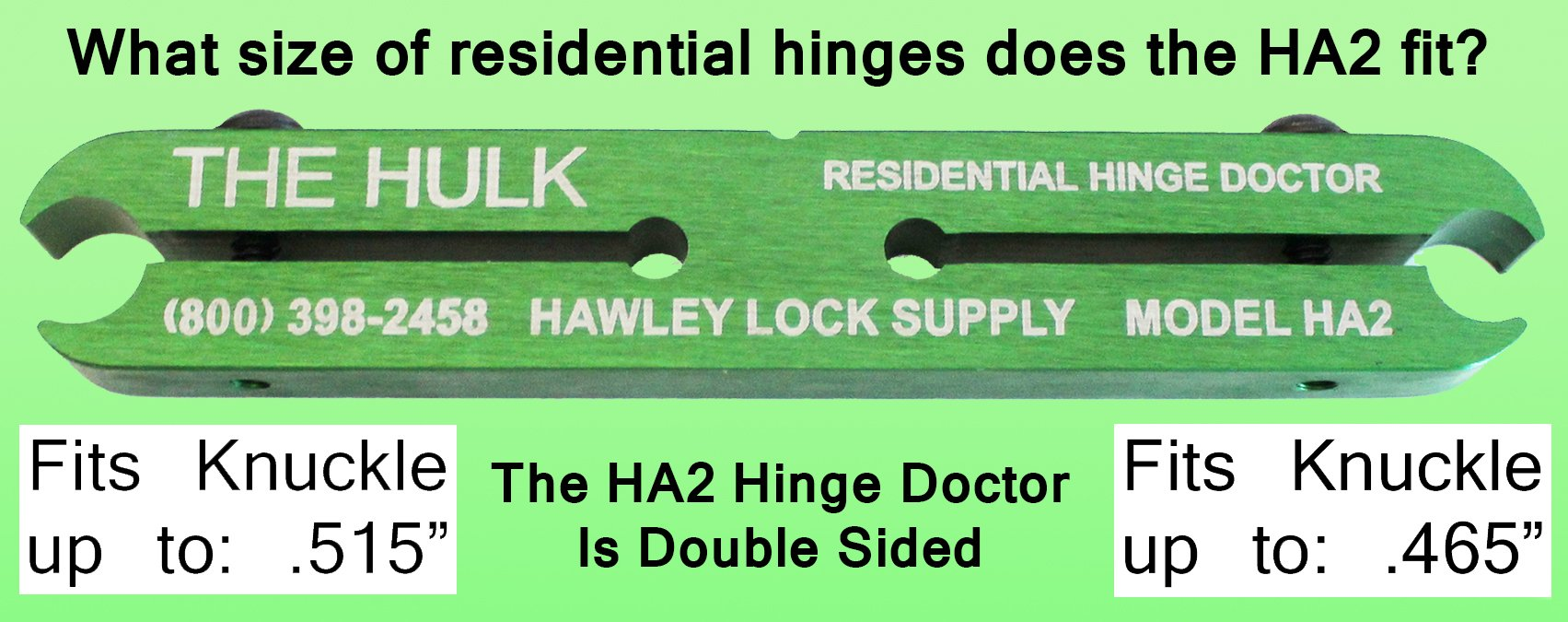 The Hinge Doctor HA2 for residential hinges.