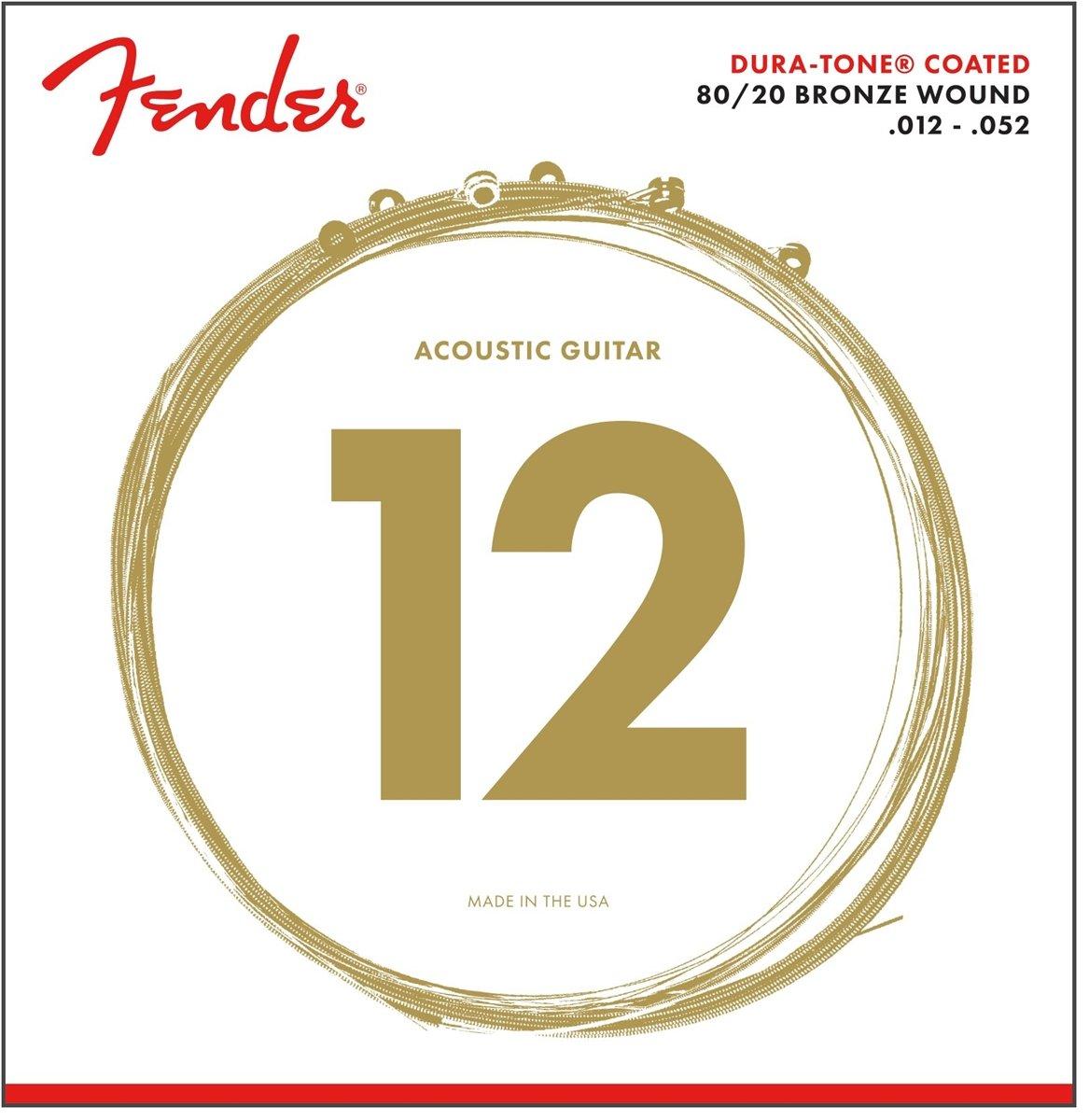 Fender Dura-Tone Coated Acoustic 880L 12-52: Amazon.es: Instrumentos musicales