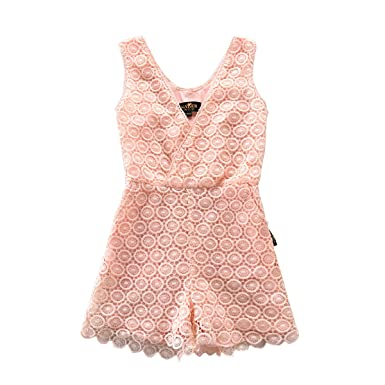 0d617599529 NABER Kids Girls  Fashion Floral Embroidery Lace Jumpsuit Rompers 3-13 Y (3