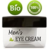 Natural Eye Cream for Men – Best Mens Treatment for Puffiness - Dark Circles and Wrinkles with Calendula and Sesame - Anti Aging Benefits and USA Made