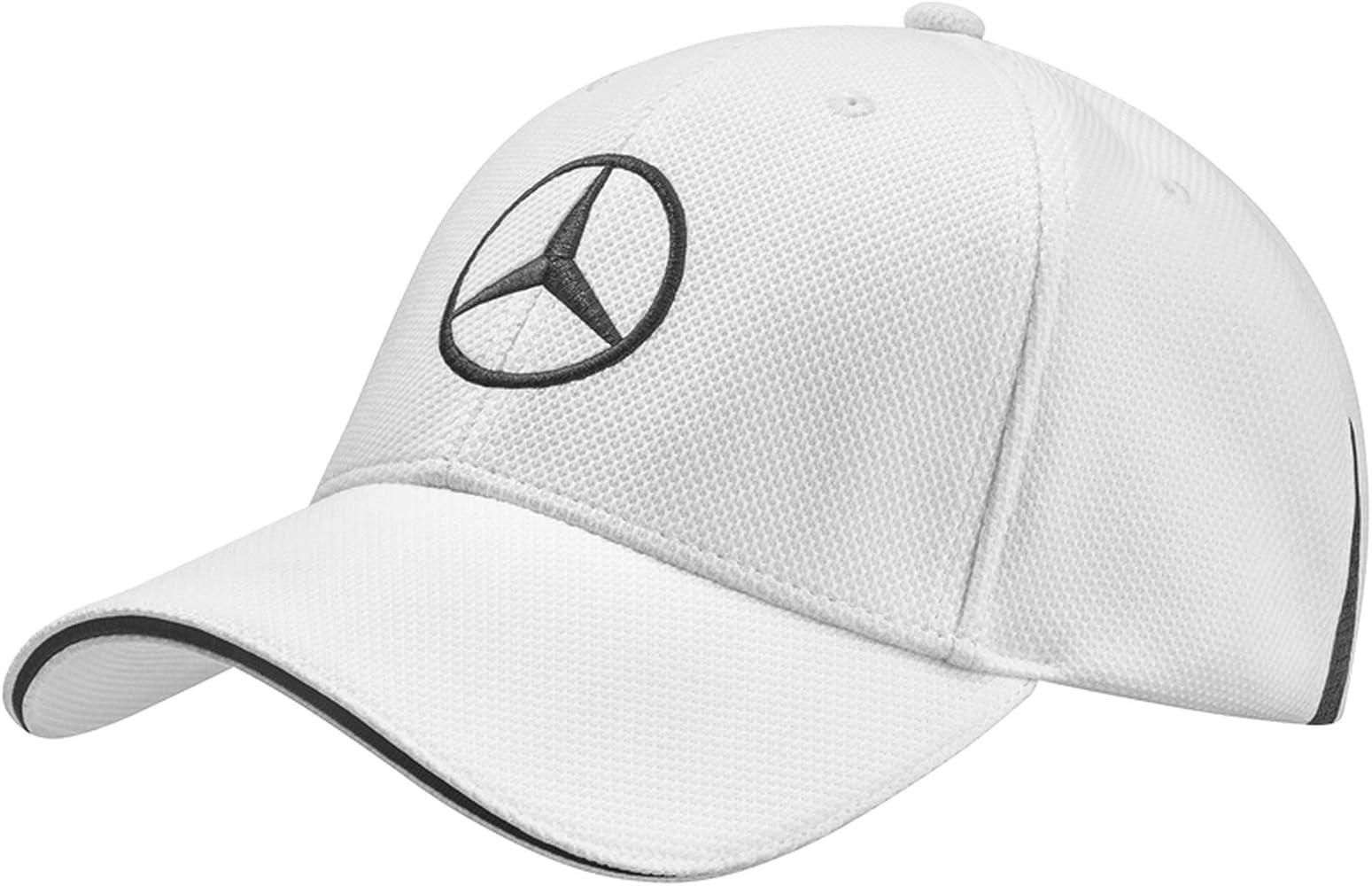 Mercedes-Benz Gorra de golf Blanco / Negro, 100% Poliéster: Amazon ...