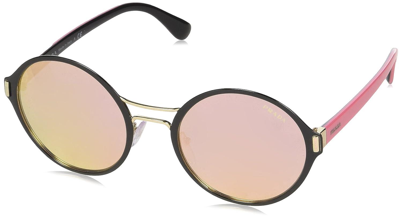 Amazon.com: anteojos de sol Prada PR 57 TS aav5l2 Negro/Pale ...