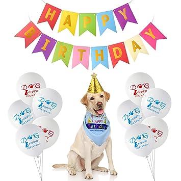 TUPARKA Artículos para la Fiesta de cumpleaños para Perros ...