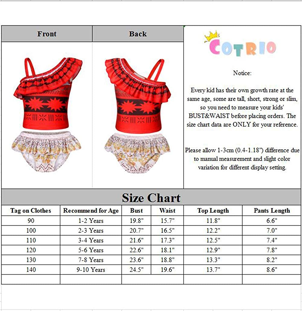 Cotrio Costume for Girls Dress up Toddler Cosplay Outfit Little Kids Skirt Sets
