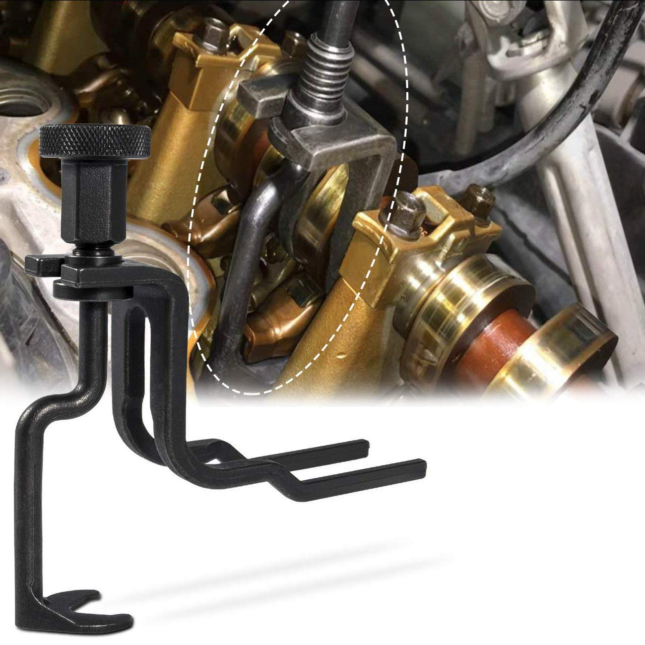 Retainer and Compression of Valve Springs in 4.6L 5.4L 6.8L 3V Ford Engines Rotunda 303-1039 for Camshaft Valve Seal Valve Spring Compressor Tool Similar to OTC 6684