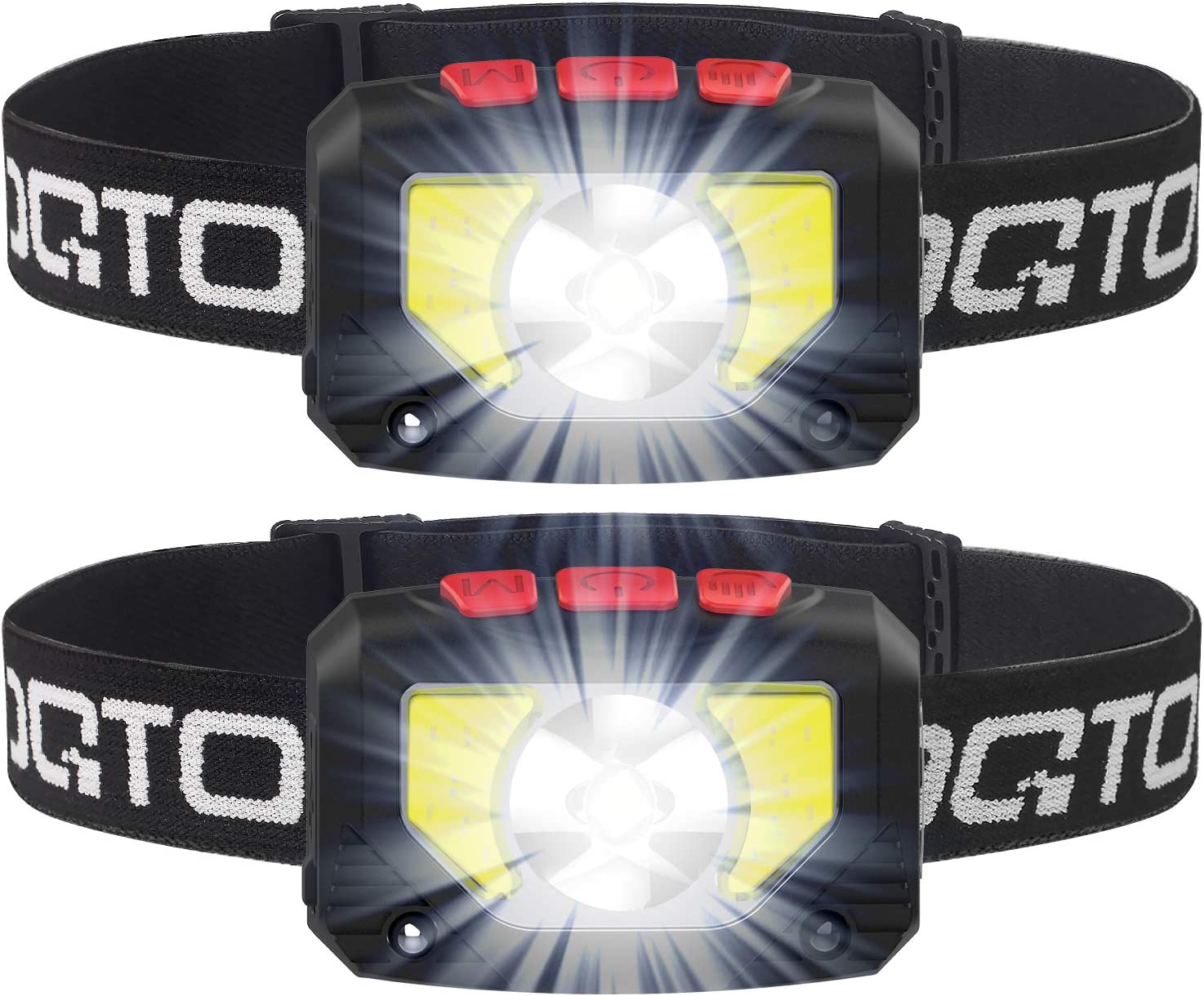 Led Headlamp USB Rechargeable/&Battery Powered,1000lm 11modes Headlamp Flashlight with Motion Sensor,Waterproof Headlamp with Red Safety Light,Suitable for Outdoor Camping,Climbing,Fishing,Hunting