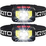 OQTO LED Headlamp Flashlight, 1000 Lumens USB Rechargeable Headlight, 8 Modes with Motion Sensor Head Lamp, Waterproof LED He