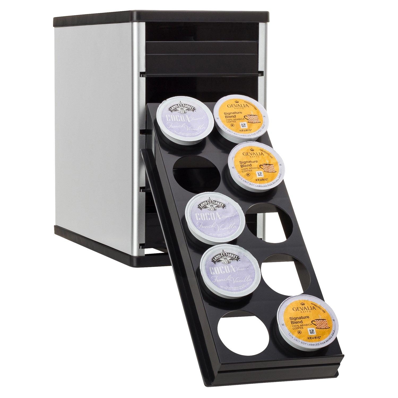 YouCopia CoffeeStack 40 Keurig K-Cup Cabinet Organizer, Silver 40100-02-SLV